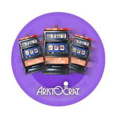 logo Aristocrat in a slot machine