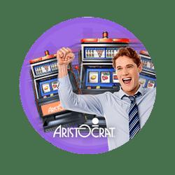 Player winning at a slot machine