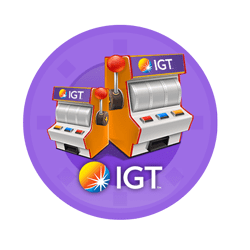 logo IGT in a slot machine