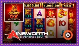 Ainsworth lance le jeu de casino Golden Ox : Golden Cash