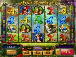 Alice in Wonderslots - apercu