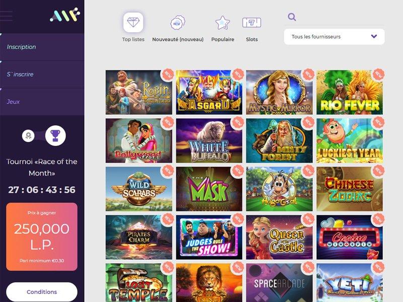 Alf Casino - apercu de logiciel