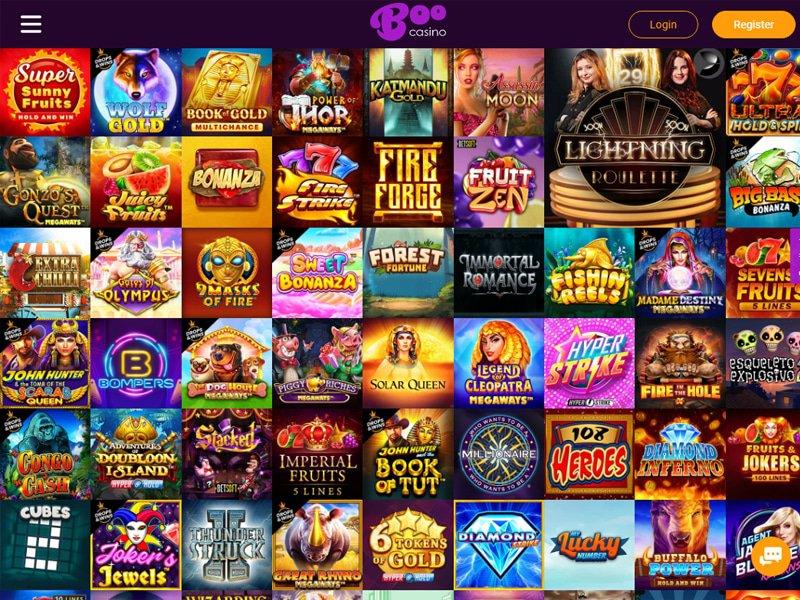 Boo Casino - apercu de logiciel