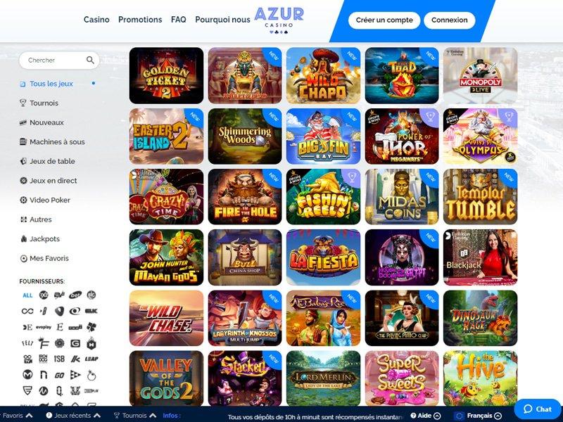 Casino Azur - apercu de logiciel
