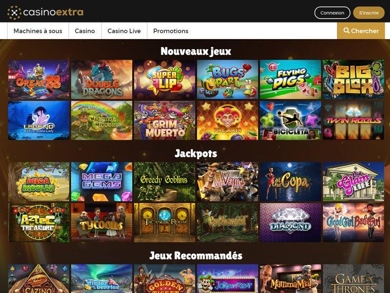 Casino Extra - apercu de logiciel