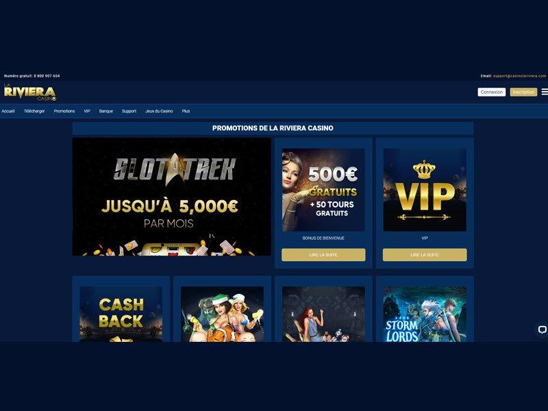 Casino La Riviera - apercu de logiciel