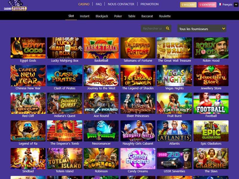 Casino Purple - apercu de logiciel