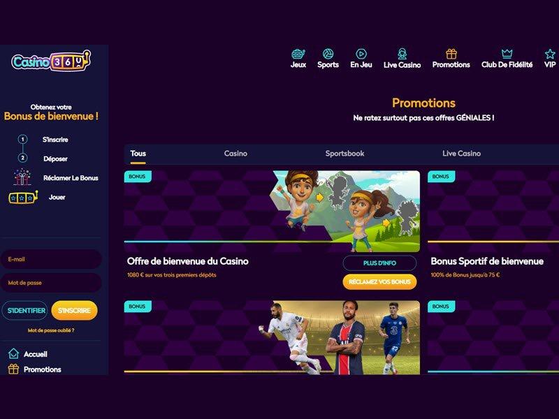 Casino360 - apercu de logiciel