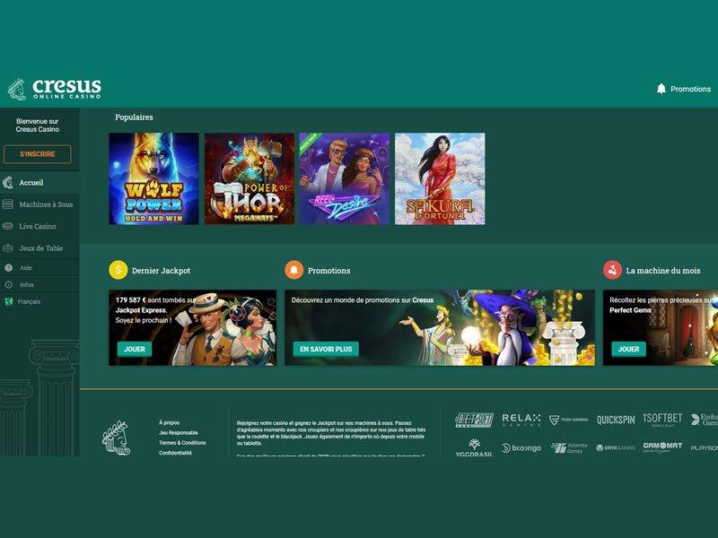 Cresus Casino - apercu de logiciel