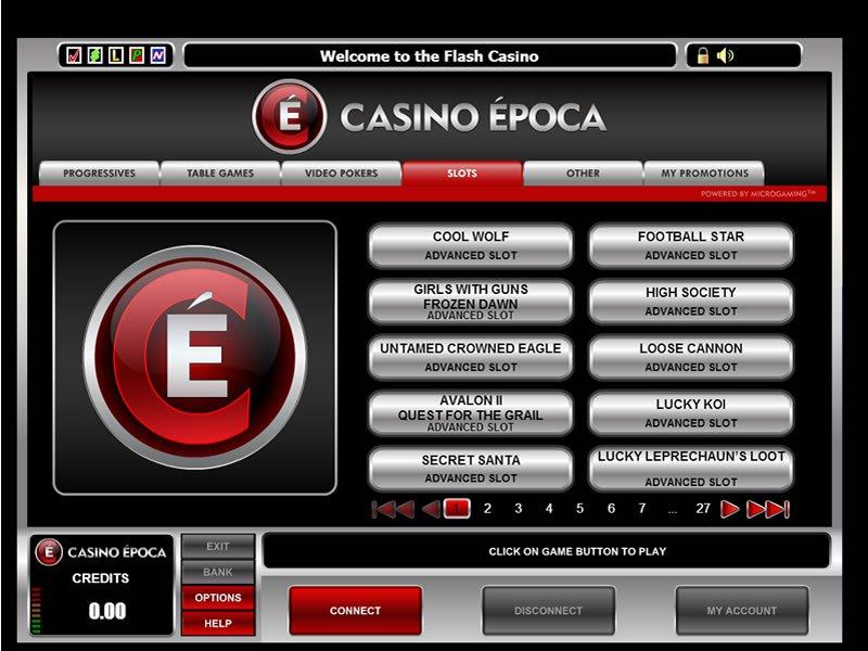 Epoca Casino - apercu de logiciel