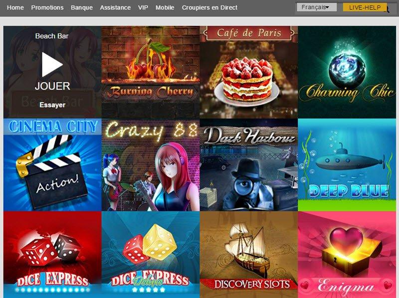 Gale&Martin Casino - apercu de logiciel