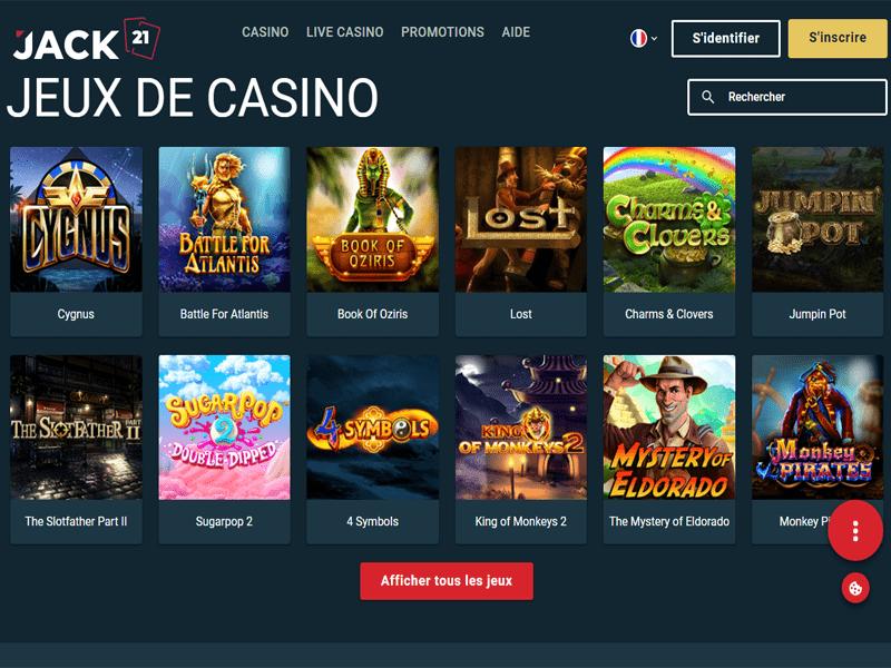 Jack21 Casino - apercu de logiciel