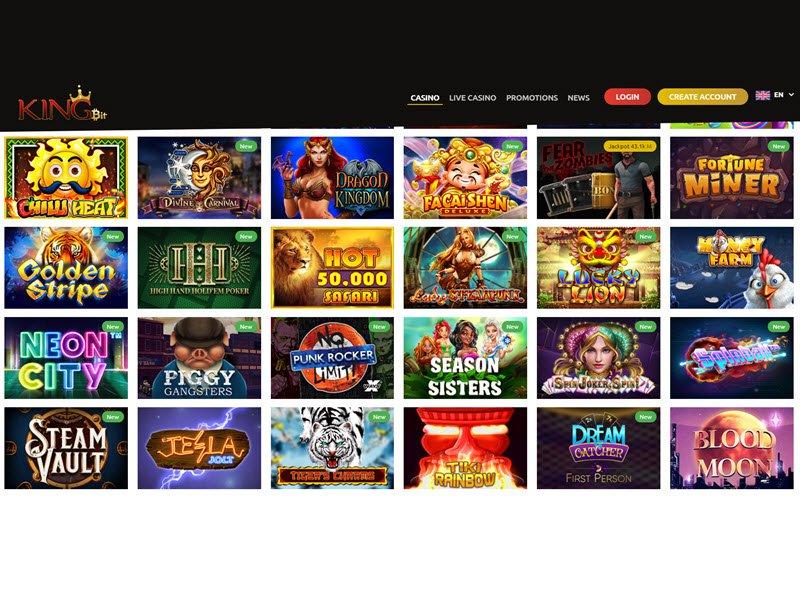 Kingbit Casino - apercu de logiciel