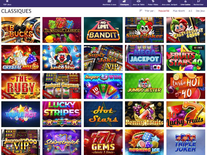 LeJackpot Casino - apercu de logiciel