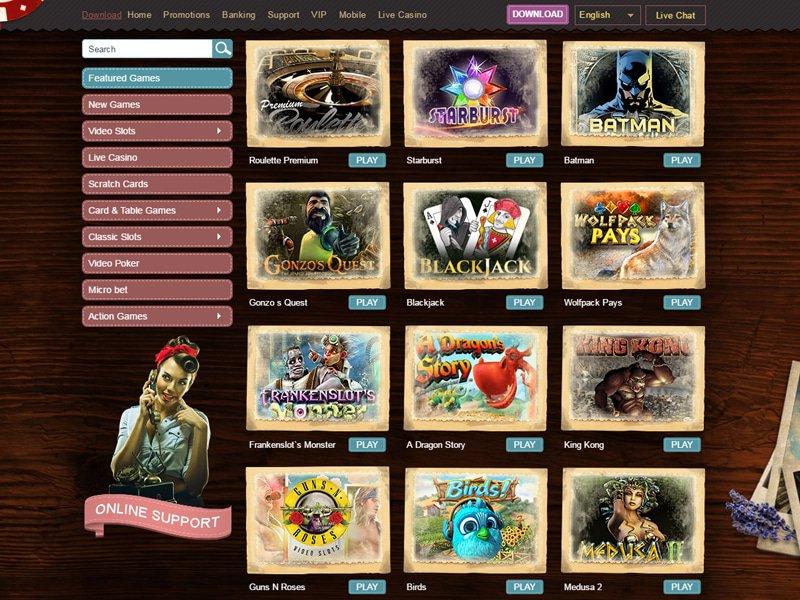 Madame Chance Casino - apercu de logiciel