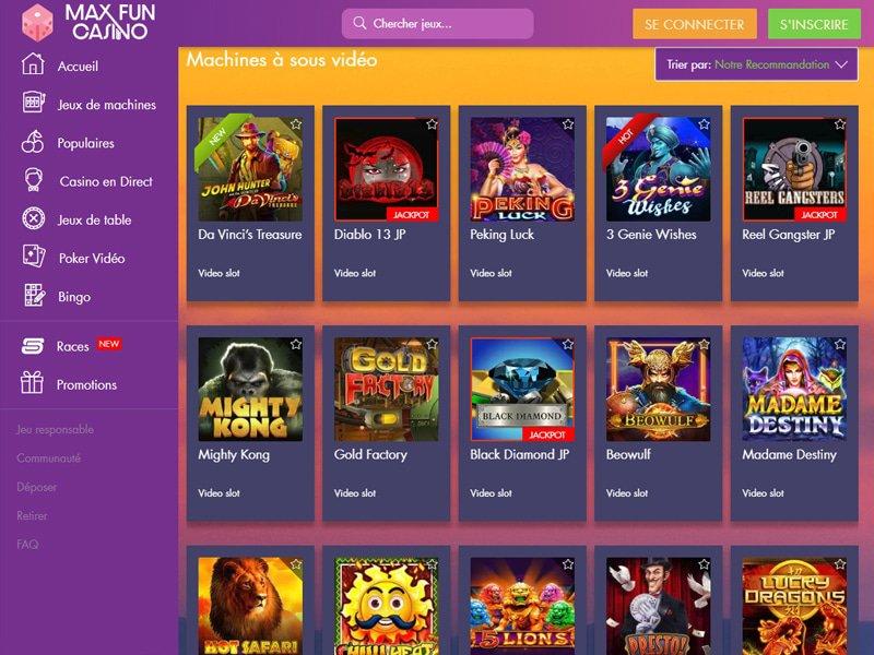 Max Fun Casino - apercu de logiciel