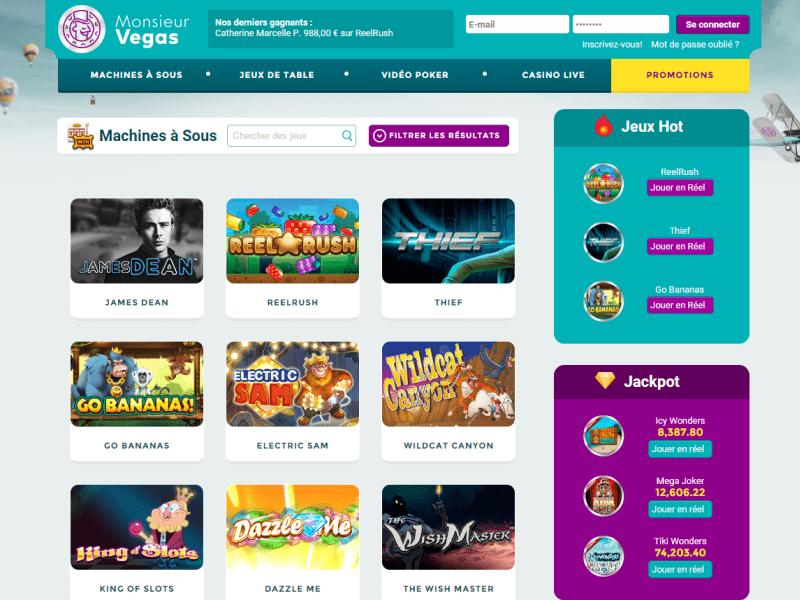 Monsieur Vegas - apercu de logiciel