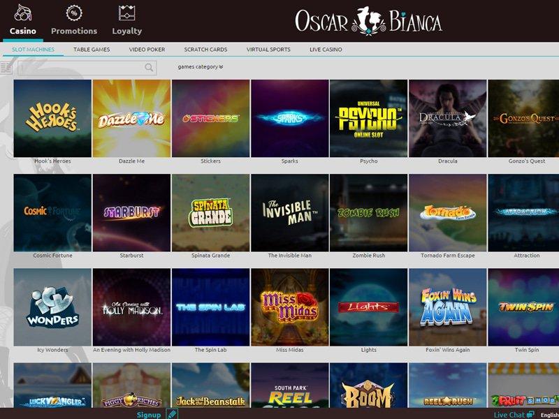 Oscar Bianca Casino - apercu de logiciel