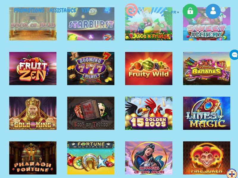 Reeltastic Casino - apercu de logiciel