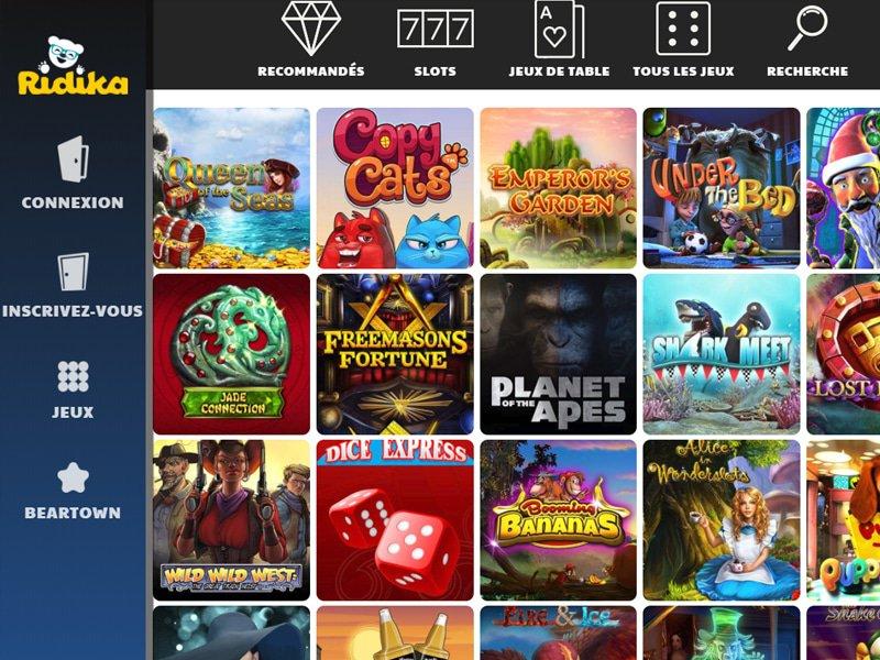 Ridika Casino - apercu de logiciel