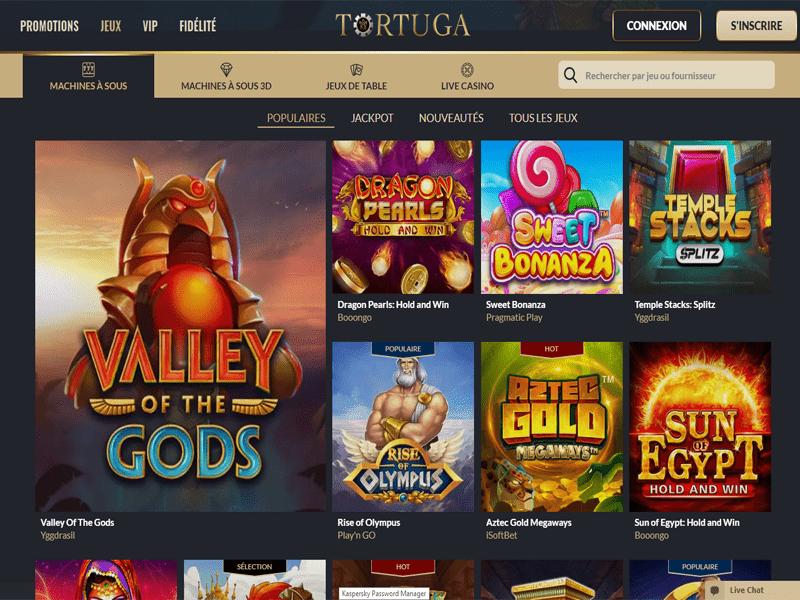 Tortuga Casino - apercu de logiciel