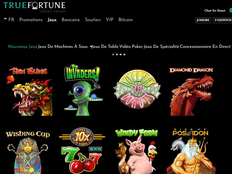True Fortune Casino - apercu de logiciel
