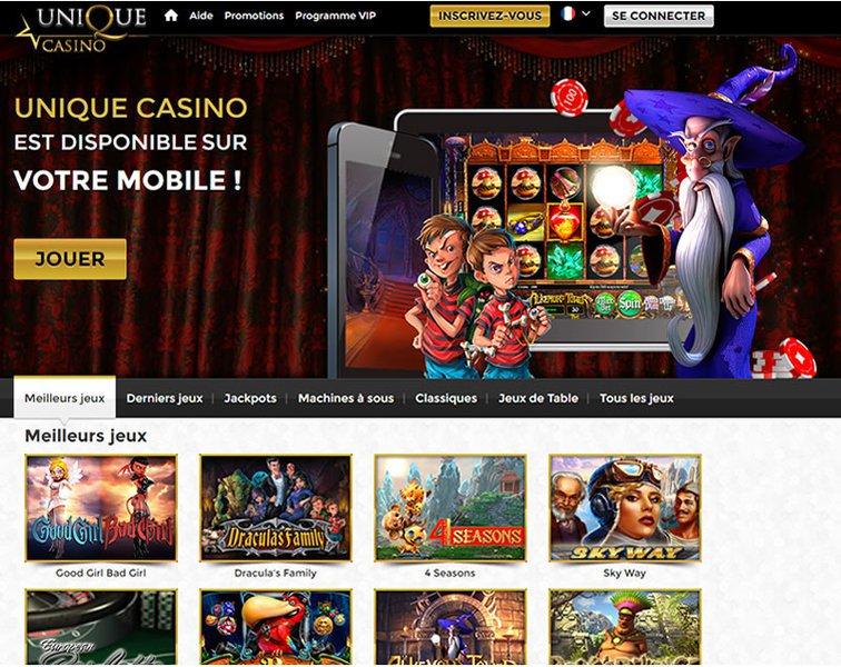 Unique Casino - apercu de logiciel