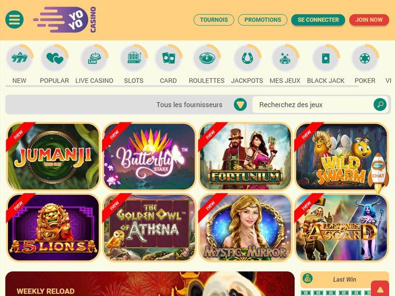 Yoyo Casino - apercu de logiciel