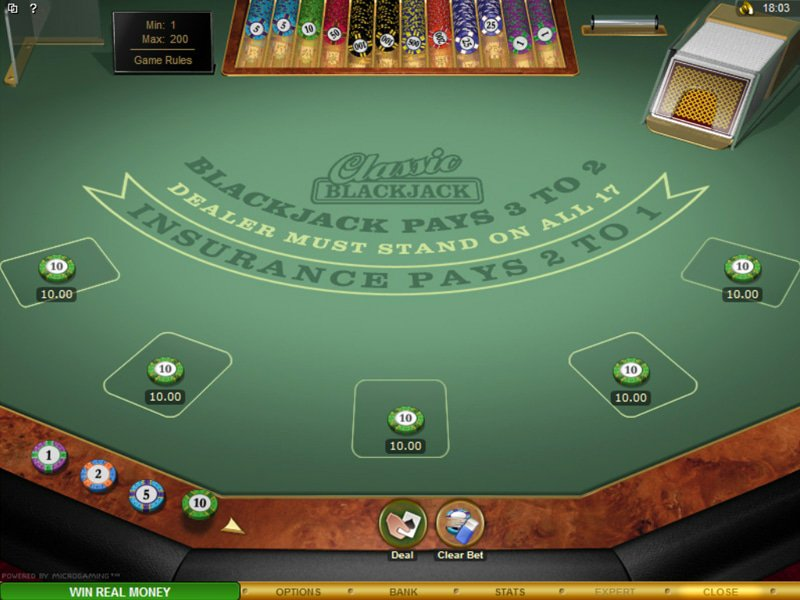 Multi-hand European Blackjack Gold - apercu