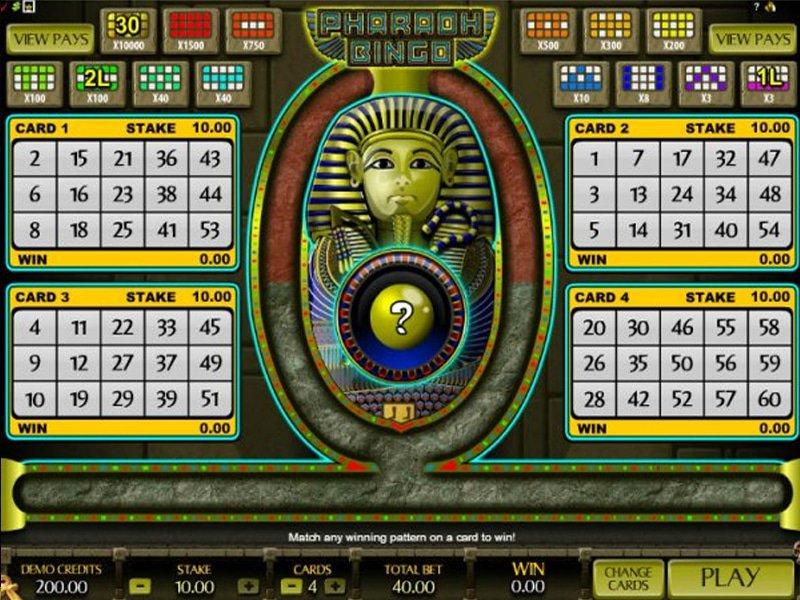 Pharaoh Bingo - apercu