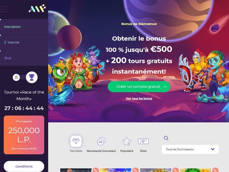 Alf Casino - apercu de site