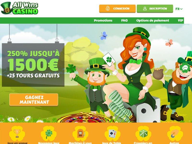 All Wins Casino - apercu de site