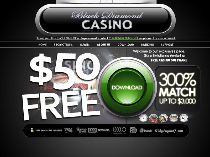 Black Diamond Casino - apercu de site