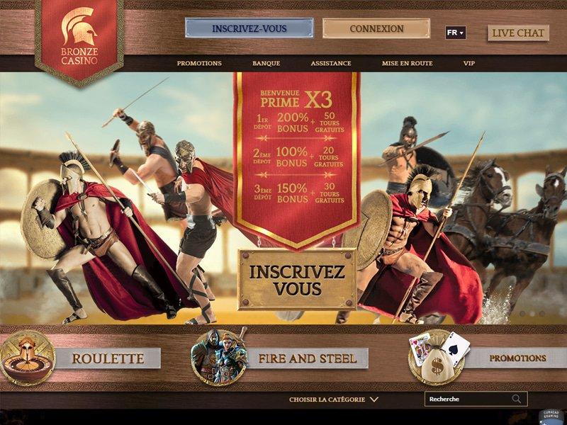 Bronze Casino - apercu de site