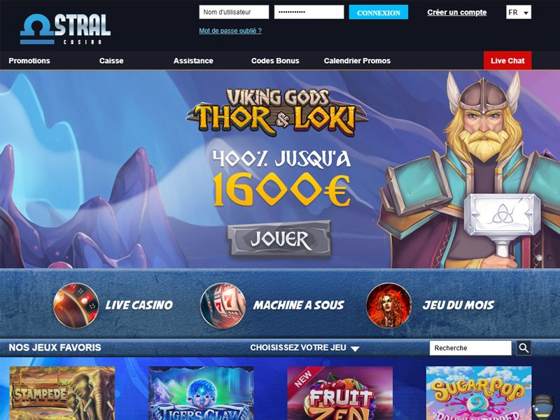 Casino Astral - apercu de site