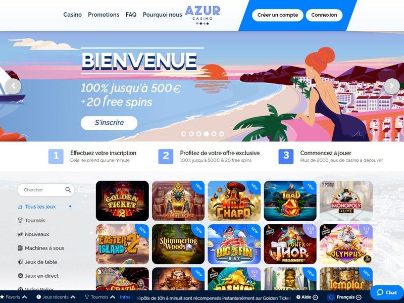 Casino Azur - apercu de site