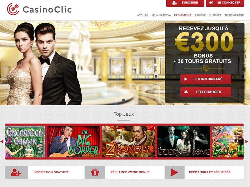Casino Clic - apercu de site