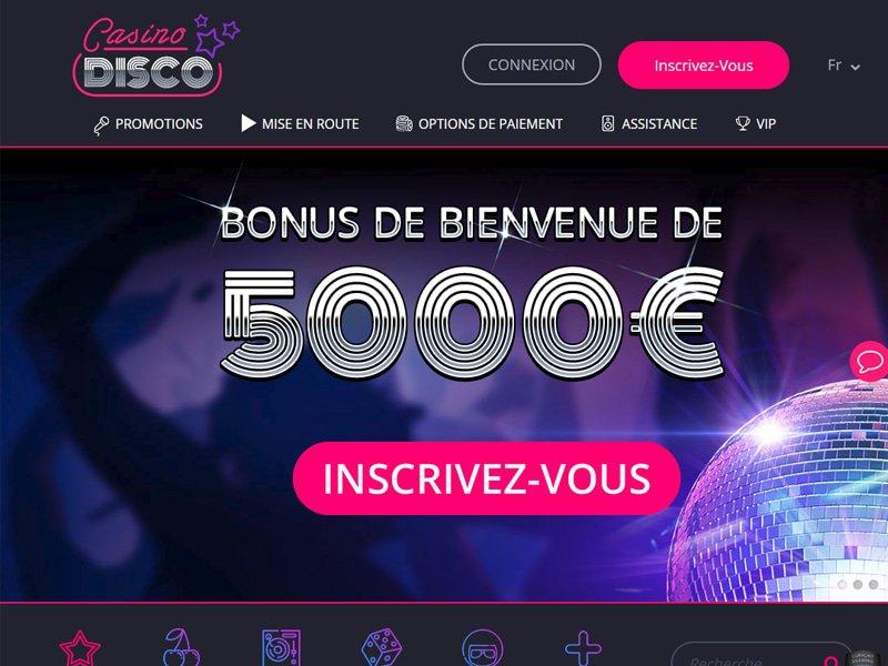 Casino Disco - apercu de site