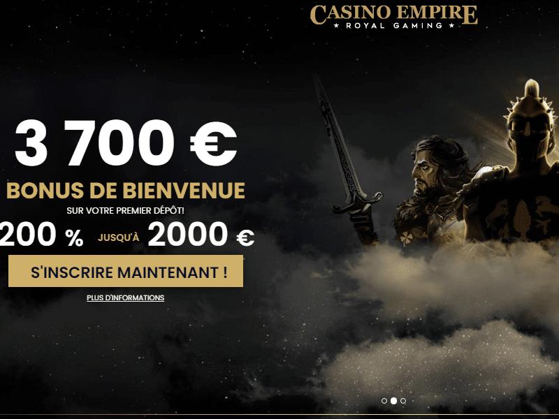 Casino Empire - apercu de site