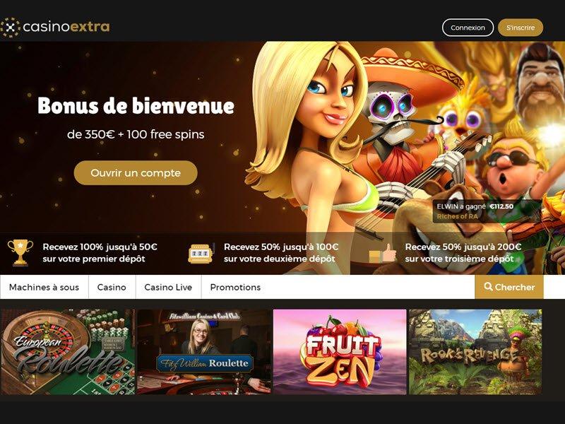 Casino Extra - apercu de site