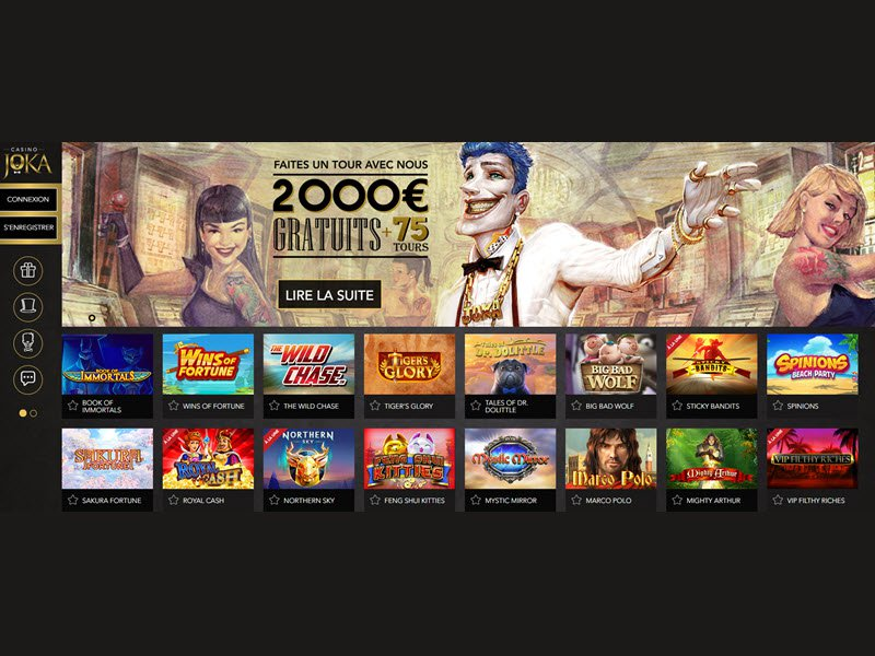 Casino Joka - apercu de site