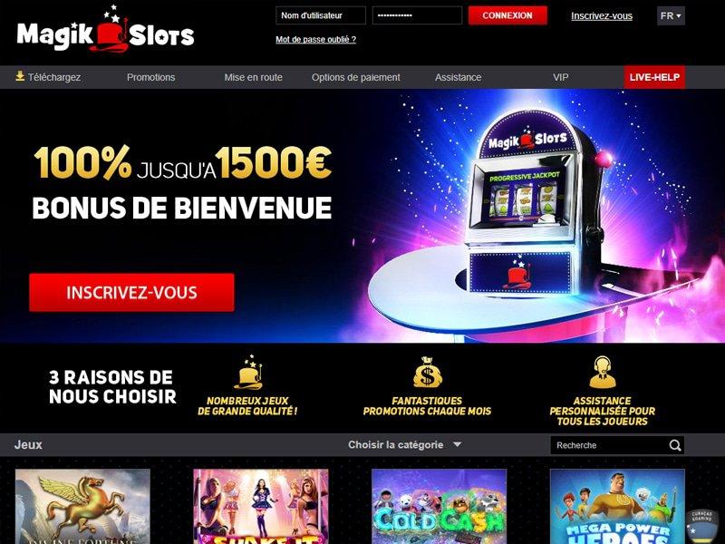 Casino MagikSlots - apercu de site