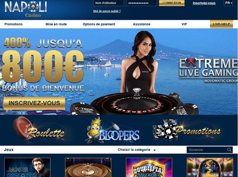 Casino Napoli - apercu de site