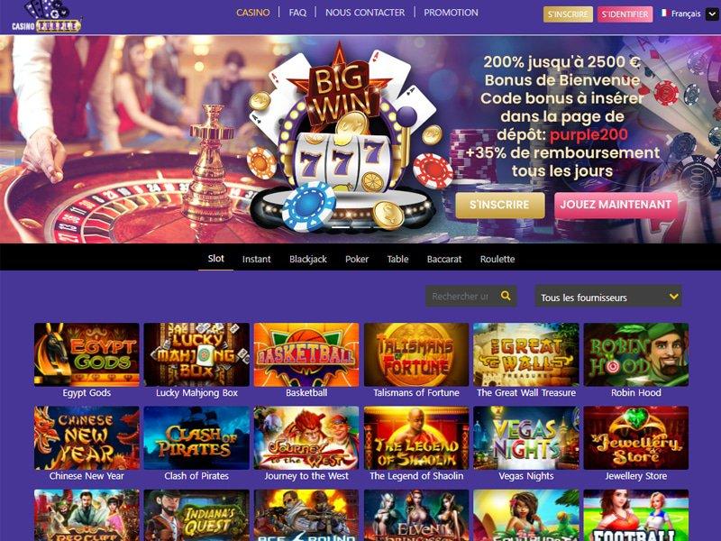 Casino Purple - apercu de site