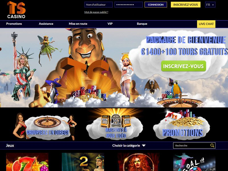 Casino Times Square - apercu de site
