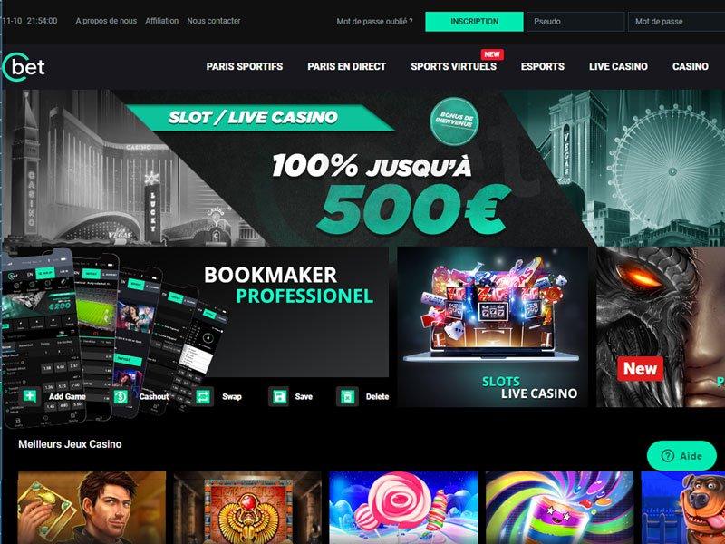 Cbet Casino - apercu de site