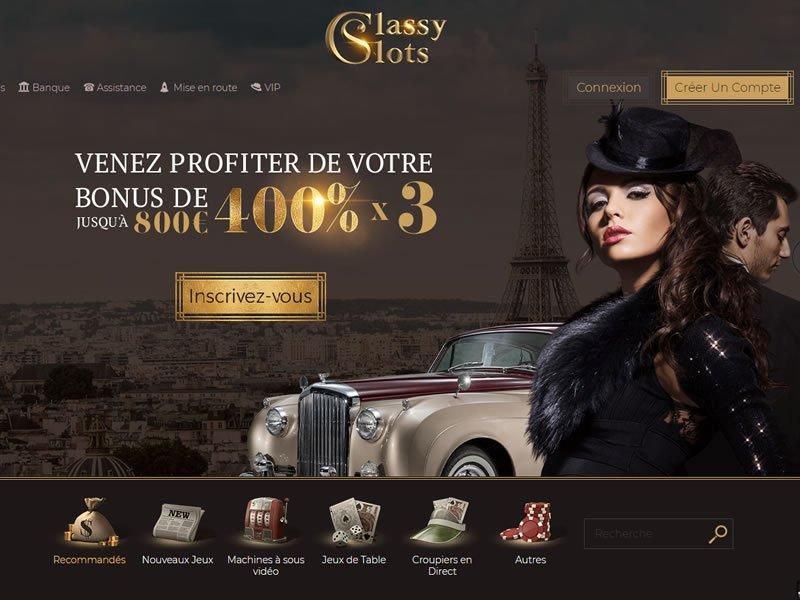 Classy Slots - apercu de site