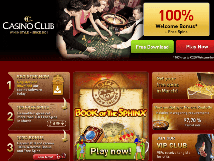 Club Casino - apercu de site