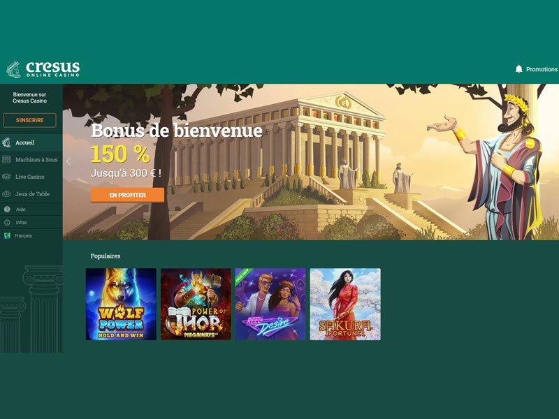 Cresus Casino - apercu de site