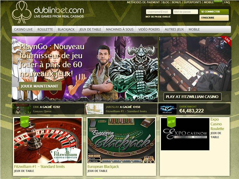 Dublinbet Casino - apercu de site